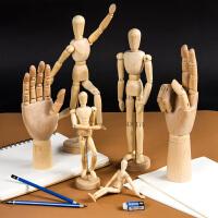 柏伦斯漫画12寸木人模型寸木头人30cm素描木偶人10寸关节人偶木手