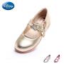 迪士尼童鞋2017春季新款女童时尚单鞋小童粉色学生鞋儿童时装皮鞋DS1955