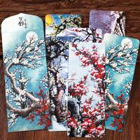 联盟古风冰雪梅花寒梅纸质书签卡片 传统品格诗词文化植物 古风水墨国画风