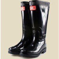 DOUBLE STAR/双星男高黑底雨鞋TH-9926-2男款高筒雨靴防水耐磨