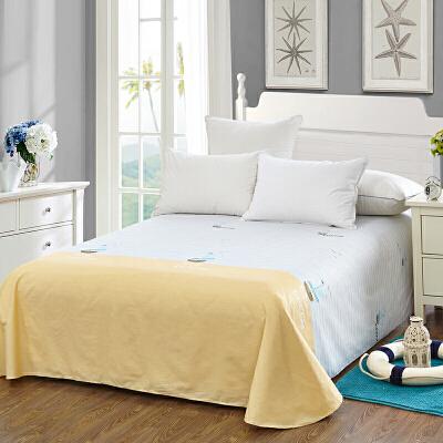 当当优品 纯棉斜纹床上用品 床单250*230cm 波尔尼(黄)当当自营 100%纯棉 不易褪色 0甲醛 透气防潮 大尺寸