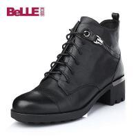 Belle/百丽 牛皮女短靴39-62DD5