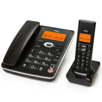 TCL D60电话机座机 数字无绳来电显示电话机子母机 家用办公固定电话机