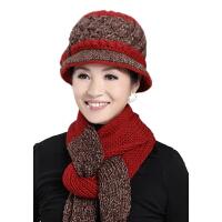 老人帽子女 秋冬季 羊毛 妈妈帽子冬 毛线老太太帽  中老年女帽子