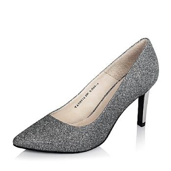 Tata/他她秋季专柜同款时尚简约优雅亮片布女单鞋2H510CQ5