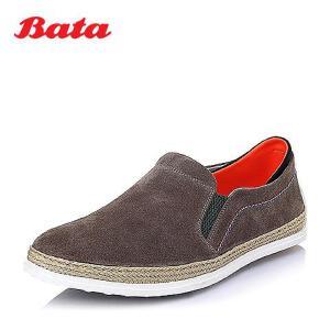 Bata/拔佳春季牛反绒时尚休闲男单鞋84202AM6