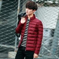 地球城冬季男士棉衣外套新款加厚保暖立领男装休闲棉服 修身款偏小一码