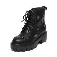 Belle/百丽冬专柜同款牛皮/羊绒皮女短靴Q5R1DDD6