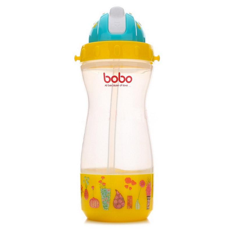 【当当自营】乐儿宝(bobo) 乐乐多功能杯400ml 黄色储物盒BB306B-O 水壶/水杯/吸管杯