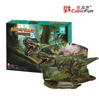 乐立方3D立体恐龙世纪模型拼图 创意逼真侏罗纪恐龙儿童纸模玩具