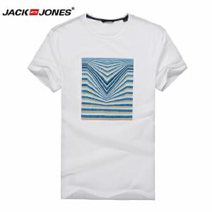 杰克琼斯/JackJones时尚百搭T恤 条纹1-2-4-214101048023