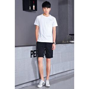 男士运动套装 夏季薄款T恤两件套宽松短袖短裤跑步服 短袖T恤运动服