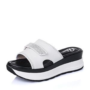 Bata/拔佳夏季牛皮时尚厚底女鞋AR703BT6