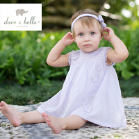 davebella戴维贝拉夏季女宝宝无袖连衣裙婴儿公主背心裙