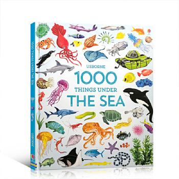英文原版 1000 Things Under the Sea 一千个海底生物 儿童启蒙认知图画精装书 单词书 3-6岁