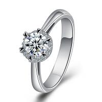 梦克拉 PT950铂金钻石戒指 缘分 铂金钻戒 钻饰女戒 婚戒 结婚戒指 订婚戒指 群镶钻石 可礼品卡购买