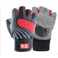 男士女健身手套 锻练哑铃举重护腕防滑健身房半指运动手套