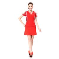 LINING 李宁正品 谌龙比赛服  羽毛球服  女短袖短裙  T恤配套装