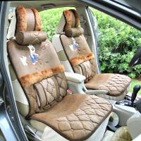 驰航 汽车坐垫 冬季新款毛绒坐垫 卡通保暖垫 汽车用品