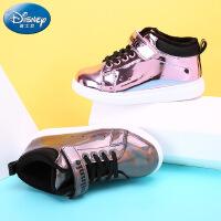 迪士尼儿童鞋女童时尚休闲鞋绚丽鞋面女童跑步鞋DS2034