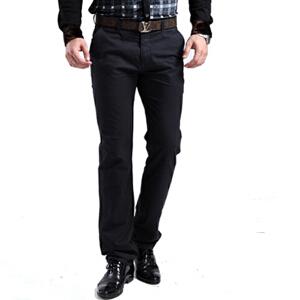1号牛仔 新款男裤男装男士直筒宽松中腰商务休闲裤商务简约男裤