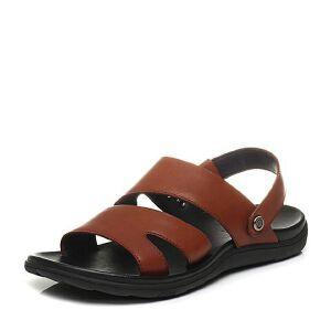 Belle/百丽2017夏季专柜同款休闲露趾沙滩鞋男凉鞋4VU01BL7