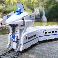 遥控火车和谐号一键变形仿真高铁动车组充电动轨道车儿童玩具