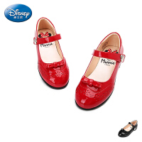 迪士尼Disney童鞋女童时尚米妮公主鞋儿童皮鞋中大童时装鞋女孩方口鞋单鞋舞蹈鞋  DS1935