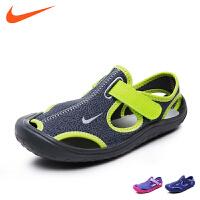 耐克nike童鞋17新款儿童运动鞋男女童儿童凉鞋沙滩鞋 儿童镂空休闲鞋 903631 002