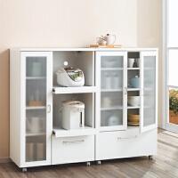 定制家具 厨房移动餐边柜 碗柜 微波炉柜 茶水柜 组合阳台储物收纳柜子