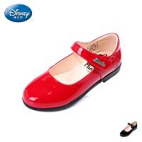 迪士尼新款2016秋女童鞋中大童靓丽皮鞋舞蹈鞋时尚亲子鞋秋DS1936