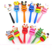 木制玩具宝宝卡通动物摇铃 婴儿用品系列 铃铛摇铃木质手摇铃