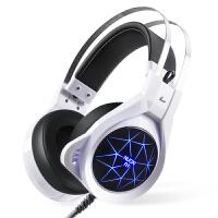 蛇蝎龙 诺西头戴式耳机游戏台式PC电脑金 属发光带话筒cf LOL游戏耳麦