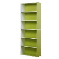 [当当自营]慧乐家 书柜书架 鲁比克L60六层书柜 组合层架柜子储物柜收纳柜置物柜 绿白色 11307-2