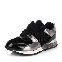 BATA/拔佳专柜同款羊绒皮革/漆皮牛皮革金属牛皮革女鞋020-9CM5