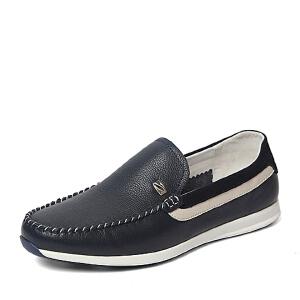 Belle/百丽春季专柜同款牛皮时尚舒适男休闲鞋3ZW01AM6