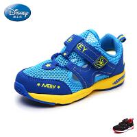 迪士尼凉鞋2017年夏季新款包头沙滩鞋男童透气网面运动凉鞋学生鞋