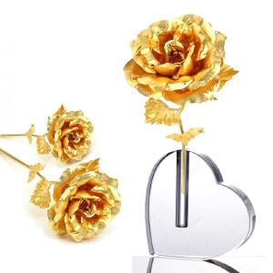 梦克拉 玫瑰花工艺摆件 创意生日情人礼物 带底座 创意礼品