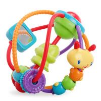 美国Bright Starts 毛虫串珠摇铃玩具 婴幼儿手抓球宝宝早教益智