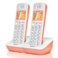 Gigaset原西门子品牌电话机A190L数字无绳电话一拖一中文显示双免提屏幕背光家用办公座机子母机套装