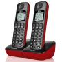 Gigaset原西门子品牌电话机A191数字无绳电话一拖一中文显示双免提家用办公座机子母机套装(魔力红)