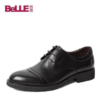 Belle/百丽秋季专柜同款牛皮男单鞋3UX01CM5 专柜1