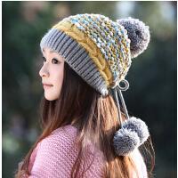 韩国时尚秋冬天护耳帽子  女士韩版潮可爱毛线帽   女冬