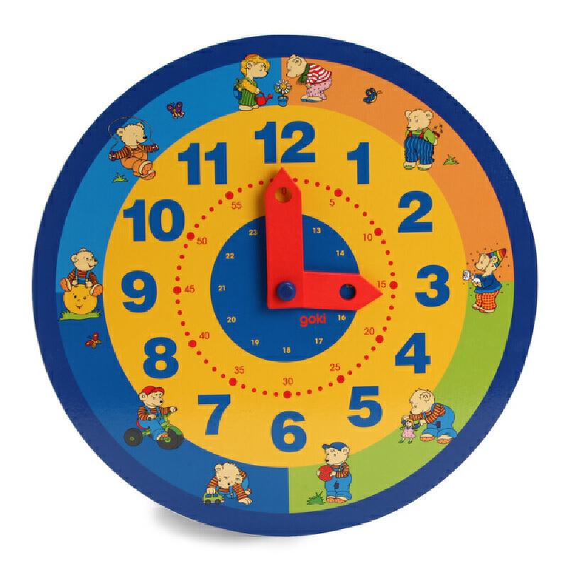 木制早教时钟板 早教认知儿童益智玩具时间幼儿园