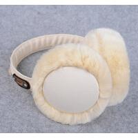可爱耳罩女冬耳套皮革耳包毛毛护耳保暖冬季耳暖时尚耳捂潮