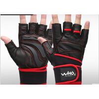 男士运动手套半指健美哑铃护腕健身房训练防滑牛皮 健身手套