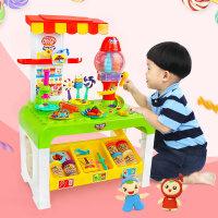 立体彩泥糖果超市手工创意橡皮泥粘土模具工具套装儿童过家家玩具