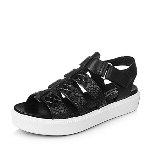 Teenmix/天美意夏季专柜同款牛皮女凉鞋6I901BL6