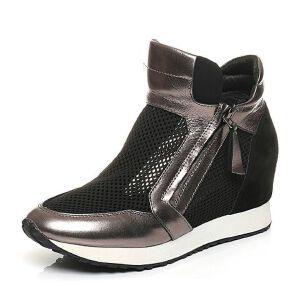 Teenmix/天美意夏专柜同款牛皮/网布运动风女凉靴AK67TBB5