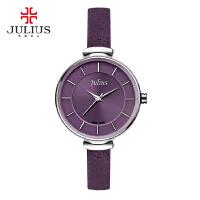 聚利时新品时尚潮流石英表防水真皮带女表女士手表女学生简约手表